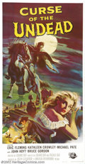 """Movie Posters:Horror, Curse of the Undead (Universal International, 1959).Three Sheet (41"""" x 81""""). Starring: Eric Fleming, Michael Pate. Very Fine..."""
