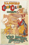 "Movie Posters:Animated, Old Mother Hubbard (Powers ComiColor Cartoons, 1935).One Sheet (27""X 41""). Dir. Ub Iwerks. Of all the Iwerks ""Fairy Tale"" c..."