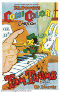 "Movie Posters:Animated, Tom Thumb (Powers ComiColor Cartoons, 1936).One Sheet (27"" X41"").Dir. Ub Iwerks. Very Fine on Linen. Some border restoratio..."