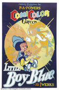 "Movie Posters:Animated, Little Boy Blue (Powers ComiColor Cartoons, 1936).One Sheet (27"" X41""). Fine/Very Fine on Linen. ..."