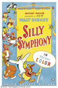 "Movie Posters:Animated, Walt Disney's Silly Symphony (United Artists, 1933).Stock One Sheet(27"" X 41""). Prod. Walt Disney. Starring: Donald Duck, T..."