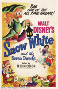 "Movie Posters:Animated, Snow White and the Seven Dwarfs (RKO, R-1951).One Sheet (27"" X41""). Prod. Walt Disney.Very Fine on Linen. ..."
