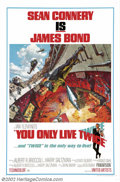 """Movie Posters:Action, You Only Live Twice (United Artists, 1967).One Sheet (27"""" X 41""""). Style A. Starring: Sean Connery. Very Fine on Linen. ..."""
