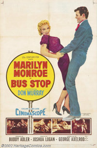 "Bus Stop (20th Century Fox, 1956).One Sheet (27"" X 41""). Dir: Joshua Logan. Starring: Marilyn Monroe,Don Murra..."