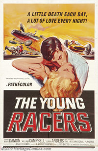 """Young Racers (AIP, 1963). One Sheet (27"""" x 41""""). Dir. Roger Corman. Starring: Mark Damon, William Campbell. Ve..."""