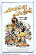"Movie Posters:Comedy, American Graffiti (Universal, 1973). One Sheet(27"" X 41""). Dir.George Lucas, Richard Dreyfuss, Ron Howard.Mint. ..."