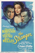 "Movie Posters:Film Noir, Stranger, The (RKO, 1946).One Sheet (27"" X 41"").Dir. Orson Welles. Starring: Orson Welles, Loretta Young, Edward G. Robinson..."