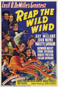 """Movie Posters:Adventure, Reap the Wild Wind (Paramount, 1942).One Sheet (27"""" X 41""""). Prod.and Dir. Cecil B. DeMille. starring: John Wayne, Ray Milla..."""