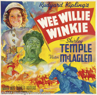 "Wee Willie Winkie (20th Century Fox, 1937).Six Sheet (81"" X 81""). Dir. John Ford. Starring: Shirley temple, Vi..."