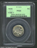 Proof Buffalo Nickels: , 1936 5C Type One--Satin Finish PR 66 PCGS. The current Coin ...
