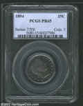 Proof Barber Quarters: , 1894 25C PR 65 PCGS. ...
