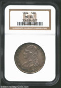 Bust Half Dollars: , 1834 50C Large Date, Large Letters MS63 NGC. ...