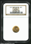 Commemorative Gold: , 1917 $1 McKinley MS60 NGC. ...