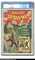 Silver Age (1956-1969):Superhero, The Amazing Spider-Man #2 (Marvel, 1963) CGC VF+ 8.5 Off-white to white pages. This issue features the first appearance of V...
