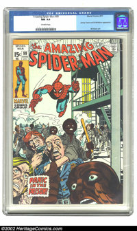 The Amazing Spider-Man #99 (Marvel, 1971) CGC NM 9.4 Off-white pages. This issue features an appearance by Johnny Carson...