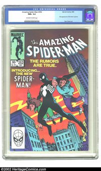 The Amazing Spider-Man #252 (Marvel, 1984) CGC NM+ 9.6 Off-white to white pages. First appearance of the black costume;...
