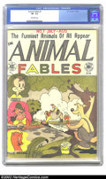 Golden Age (1938-1955):Funny Animal, Animal Fables #1 (EC, 1946) CGC VF- 7.5 Off-white pages. Overstreet2002 VF 8.0 value = $257....