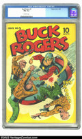 Golden Age (1938-1955):Science Fiction, Buck Rogers #5 (Eastern Color, 1943) CGC FN+ 6.5 Off-white pages.Scarce early science-fiction title. Overstreet 2002 FN 6.0...