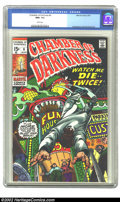 Bronze Age (1970-1979):Horror, Chamber of Darkness #6 (Marvel, 1970) CGC NM 9.6 White pages.Overstreet 2002 NM 9.4 value = $18....
