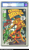 Bronze Age (1970-1979):Horror, Chamber of Darkness #7 (Marvel, 1970) CGC NM+ 9.6 Off-white towhite pages. This issue features Berni Wrightson's first work...