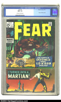 Fear #4 (Marvel, 1971) CGC NM+ 9.6. This fantastic HIGH-GRADE copy of this bronze age square-bound giant will stun you...