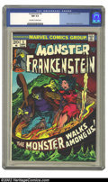 Bronze Age (1970-1979):Horror, Frankenstein #5 (Marvel, 1973) CGC NM 9.4 Off-white to white pages.Mike Ploog cover and art. Overstreet 2002 NM 9.4 value =...
