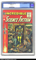 Golden Age (1938-1955):Science Fiction, Incredible Science Fiction #32 (EC, 1955) CGC FN/VF 7.0 Off-whitepages. Davis, Williamson and Krenkel art. Overstreet 2002 ...