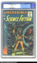 Golden Age (1938-1955):Science Fiction, Incredible Science Fiction #33 (EC, 1956) CGC FN 6.0 White pages.Davis, Orlando and Wood art. Overstreet 2002 FN 6.0 value ...