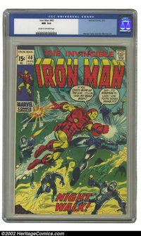 Iron Man #40 (Marvel, 1971) CGC NM 9.4 Cream to off-white pages. George Tuska and Jim Mooney art. Overstreet 2002 NM 9.4...