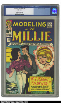 Modeling with Millie #40 (Marvel, 1965) CGC NM 9.4 Off-white to white pages. Overstreet 2002 NM 9.4 value = $40