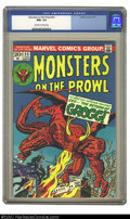 Bronze Age (1970-1979):Horror, Monsters on the Prowl #23 (Marvel, 1973) CGC NM+ 9.6 Off-white towhite pages. This is a beautiful copy of this bronze age c...