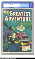 Golden Age (1938-1955):Horror, My Greatest Adventure #1 (DC, 1955) CGC FN+ 6.5 Cream to off-whitepages. Overstreet 2002 FN 6.0 value = $390....