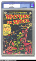 Golden Age (1938-1955):Science Fiction, Mystery in Space #3 Bethlehem pedigree (DC, 1951) CGC FN+ 6.5Off-white pages. Overstreet 2002 FN 6.0 value = $210....