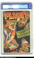 Golden Age (1938-1955):Science Fiction, Planet Comics #45 (Fiction House, 1946) CGC FN 6.0 Cream tooff-white pages. Overstreet 2002 FN 6.0 value = $231....