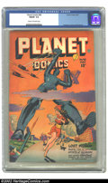 Golden Age (1938-1955):Science Fiction, Planet Comics #48 (Fiction House, 1947) CGC FN/VF 7.0 Cream tooff-white pages. Overstreet 2002 FN 6.0 value = $182; VF 8.0 ...