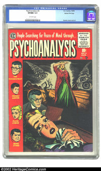 Psychoanalysis #3 Gaines File pedigree 1/12 (EC, 1955) CGC VF/NM 9.0 Off-white pages. Overstreet 2002 NM 9.4 value = $15...