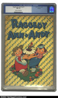 Golden Age (1938-1955):Cartoon Character, Raggedy Ann and Andy #3 File Copy (Dell, 1946) CGC NM 9.4 Cream tooff-white pages. Overstreet 2002 NM 9.4 value = $200. ...