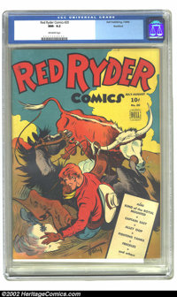 Red Ryder Comics #20 Rockford pedigree (Dell, 1944) CGC NM- 9.2 Off-white pages. Overstreet 2002 NM 9.4 value = $300