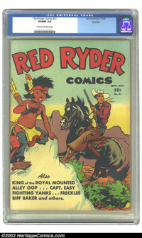 Red Ryder Comics #21 Rockford pedigree (Dell, 1944) CGC VF/NM 9.0 Cream to off-white pages. Overstreet 2002 NM 9.4 value...