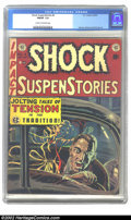 Golden Age (1938-1955):Horror, Shock SuspenStories #4 (EC, 1952) CGC FN/VF 7.0 Cream to off-whitepages. Used in SOTI; Kamen, Wood and Orlando art. Overstr...