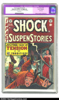 "Golden Age (1938-1955):Horror, Shock SuspenStories #10 (EC, 1953) CGC Apparent VF/FN 5.0 Slight(A) Off-white pages. CGC notes: ""Restoration includes: glue..."