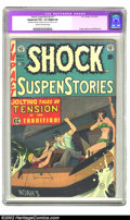 "Golden Age (1938-1955):Horror, Shock SuspenStories #11 (EC, 1953) CGC Apparent VG+ 4.5 Slight (A)Cream to off-white pages. CGC notes: ""Restoration include..."