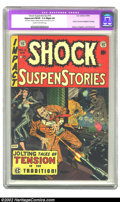 "Golden Age (1938-1955):Horror, Shock SuspenStories #14 (EC, 1954) CGC Apparent FN/VF 7.0 Slight(A) Cream to off-white pages. CGC notes: ""Restoration inclu..."