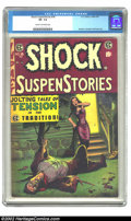 Golden Age (1938-1955):Horror, Shock SuspenStories #18 (EC, 1955) CGC VF- 7.5 Cream to off-whitepages. Kamen, Crandall and Evans art. Overstreet 2002 VF 8...