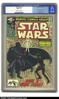 """Modern Age (1980-Present):Science Fiction, Star Wars #44 (Marvel, 1981) CGC NM+ 9.6 Off-white to white pages.Part 6 of """"Empire Strikes Back"""" movie adaptation, with Al..."""