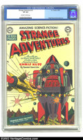 Golden Age (1938-1955):Science Fiction, Strange Adventures #3 (DC, 1950) CGC VF 8.0 Off-white to whitepages. Overstreet 2002 VF 8.0 value = $638....