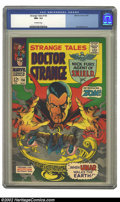 Silver Age (1956-1969):Horror, Strange Tales #156 (Marvel, 1967) CGC NM- 9.2 Off-white pages. JimSteranko art. Overstreet 2002 NM 9.4 value = $50....