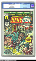 """Bronze Age (1970-1979):Horror, Supernatural Thrillers #4 (Marvel, 1973) CGC NM 9.4 Off-white towhite pages. This Issue features """"Dr. Jekyll and Mr. Hyde""""...."""