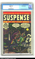 Golden Age (1938-1955):Horror, Suspense #15 Palo Alto pedigree (Atlas, 1952) CGC FN/VF 7.0 Whitepages. Overstreet 2002 FN 6.0 value = $69; VF 8.0 value = ...