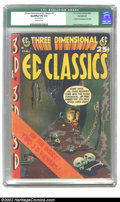 "Golden Age (1938-1955):Horror, Three Dimensional EC Classics #1 (EC, 1954) CGC Qualified VG 4.0Off-white pages. CGC notes: ""Glasses missing"". Evans, Krigs..."